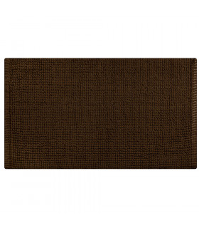 CORN 3 - Brown, super soft microfiber bath mat, absorbent and non-slip.