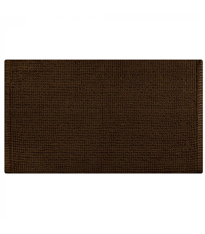 CORN 3 - Brown, super soft microfiber bath mat, absorbent and non-slip.