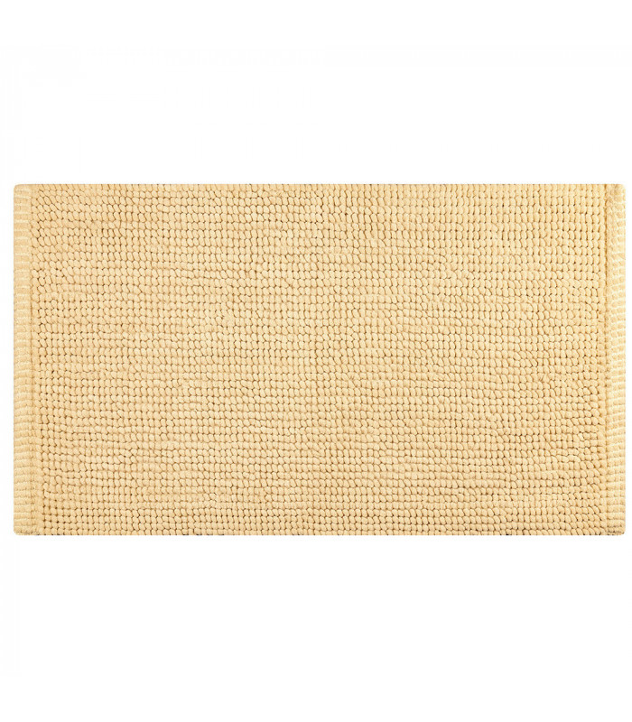 CORN 3 - Beige, super soft microfiber bath mat, absorbent and non-slip.