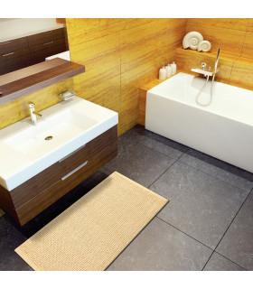 CORN 3 - Beige, super soft microfiber bath mat, absorbent and non-slip. ambient