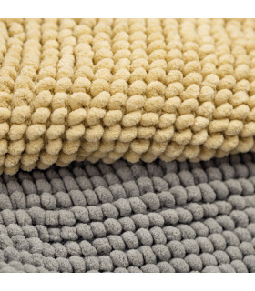 CORN 3 - Beige, super soft microfiber bath mat, absorbent and non-slip. detail 1