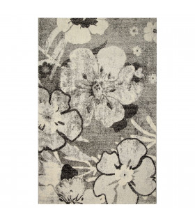 ART - Flower gray, modern design furniture rug