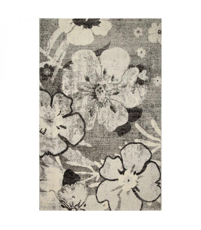 ART - Flower grey, tappeto di design moderno da arredo