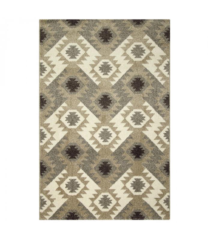 ART - Kilim brown, tappeto di design moderno da arredo