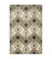 ART 2 - Kilim brown Tappeto arredo dal design moderno per camera, salotto, ufficio, 4 misure