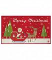 NOEL BABBO SLITTA - Zerbino ingresso casa, tappeto di Natale per interno ed esterno con fondo antiscivolo, 45X78 cm
