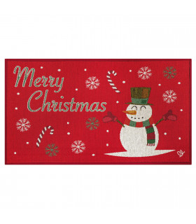 NOEL, Snowman - Indoor and outdoor carpet in Christmas pattern