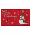 NOEL PUPAZZO DI NEVE - Zerbino ingresso casa, tappeto di Natale per interno ed esterno con fondo antiscivolo, 45X78 cm