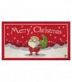 NOEL BABBO SALUTA - Zerbino ingresso casa, tappeto di Natale per interno ed esterno con fondo antiscivolo, 45X78 cm