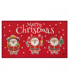NOEL, Babbi Natale - Tappeto da interno e esterno in fantasia natalizia