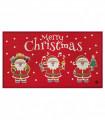 NOEL BABBI NATALE - Zerbino ingresso casa, tappeto di Natale per interno ed esterno con fondo antiscivolo, 45X78 cm