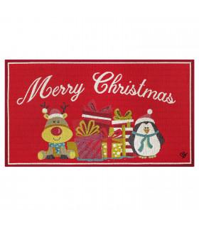 NOEL, renna & pinguino - Tappeto da interno e esterno in fantasia natalizia