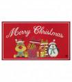 NOEL RENNA e PINGUINO - Zerbino ingresso casa, tappeto di Natale per interno ed esterno con fondo antiscivolo, 45X78 cm