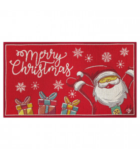 NOEL, Babbo felice - Tappeto da interno e esterno in fantasia di Natale