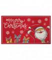 NOEL BABBO FELICE - Zerbino ingresso casa, tappeto di Natale per interno ed esterno con fondo antiscivolo, 45X78 cm