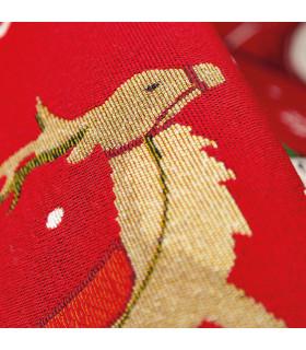 NOEL, Babbo sulla slitta - Tappeto da interno e esterno in fantasia di Natale dettaglio