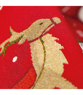 NOEL, Santa on the sleigh - Indoor and outdoor carpet in Christmas pattern detail