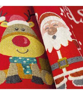 NOEL, reindeer & penguin - Indoor and outdoor carpet in Christmas pattern detail