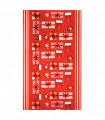 KLAUS ROLL Gift - Tappeto a corsia antiscivolo rosso con simpatiche stampe natalizie