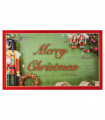 DIGITAL SCHIACCIANOCI Wishes - Christmas rug in printed nylon with non-slip bottom