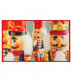 DIGITAL SCHIACCIANOCI King Soldiers - Christmas rug in printed nylon with non-slip bottom