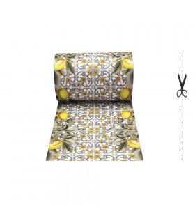 JOKE 3 - Maiolica Lemons, tappeto antiscivolo stampato, corsia da cucina su misura