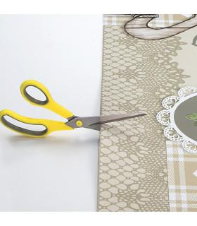 JOKE 3 - Shabby, printed anti-slip rug, custom kitchen lane cutting