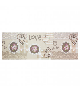 JOKE 3 - Shabby, printed anti-slip rug, custom kitchen lane lay