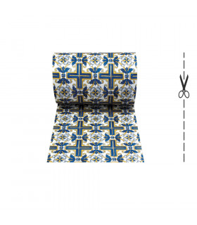 JOKE 3 - Positano, tappeto antiscivolo stampato, corsia da cucina su misura