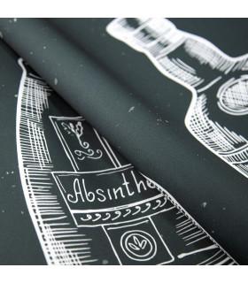 JOKE 3 - Bottles, printed non-slip carpet, custom kitchen lane detail 1
