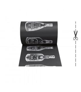 JOKE 3 - Bottles, tappeto antiscivolo stampato, corsia da cucina su misura