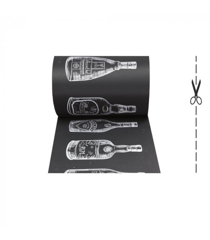 JOKE 3 - Bottles, printed non-slip carpet, custom kitchen lane