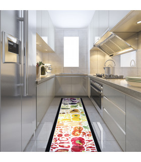 JOKE 3 - Vegetables, printed non-slip carpet, custom kitchen lane ambient