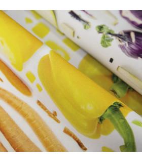 JOKE 3 - Vegetables, printed non-slip carpet, custom kitchen lane yellow detail