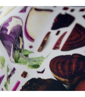 JOKE 3 - Vegetables, printed non-slip carpet, custom kitchen lane red detail