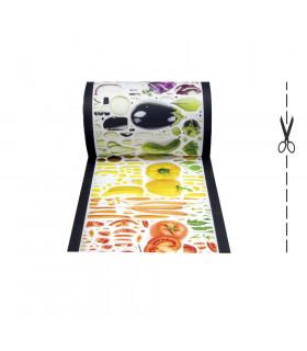 JOKE 3 - Vegetables, tappeto antiscivolo stampato, corsia da cucina su misura