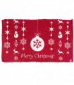SNOW - Merry addobbi. Tappeto natalizio antiscivolo in cotone stampato.