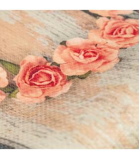 DECOR Love - Stain-resistant carpet, non-slip kitchen runner roses detail