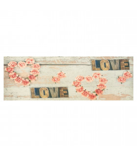 DECOR Love - Stain-resistant carpet, non-slip kitchen runner lay