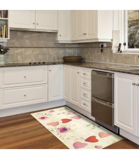 DECOR Passion - Stain-resistant carpet, non-slip kitchen runner ambient