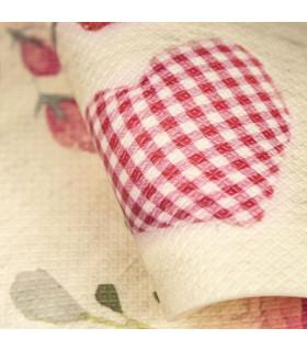 DECOR Passion - Stain-resistant carpet, non-slip kitchen runner heart detail