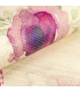 DECOR Passion - Stain-resistant carpet, non-slip kitchen runner flower detail