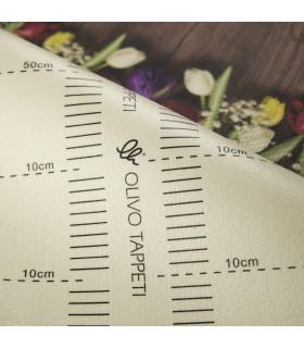 DECOR Garden - Stain-resistant carpet, non-slip kitchen runner ruler