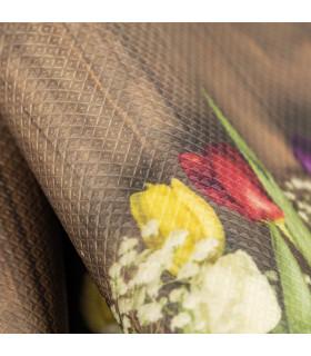 DECOR Garden - Stain-resistant carpet, non-slip kitchen runner tulips detail