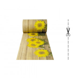 DECOR Sunflower - Tappeto antimacchia, passatoia antiscivolo da cucina