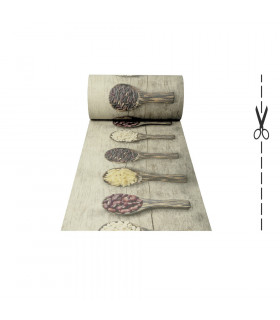 DECOR Legums - Tappeto antimacchia, passatoia antiscivolo da cucina