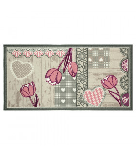 NEW SMILE Glamor - Non-slip kitchen lane rug. Assorted sizes and colors pink