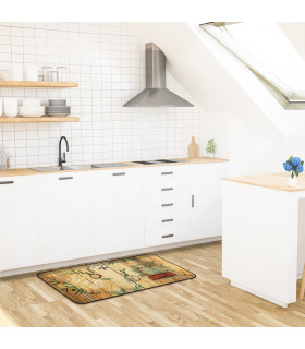 MIAMI 2 - Travel. Lane carpet, washable and non-slip for the kitchen ambient