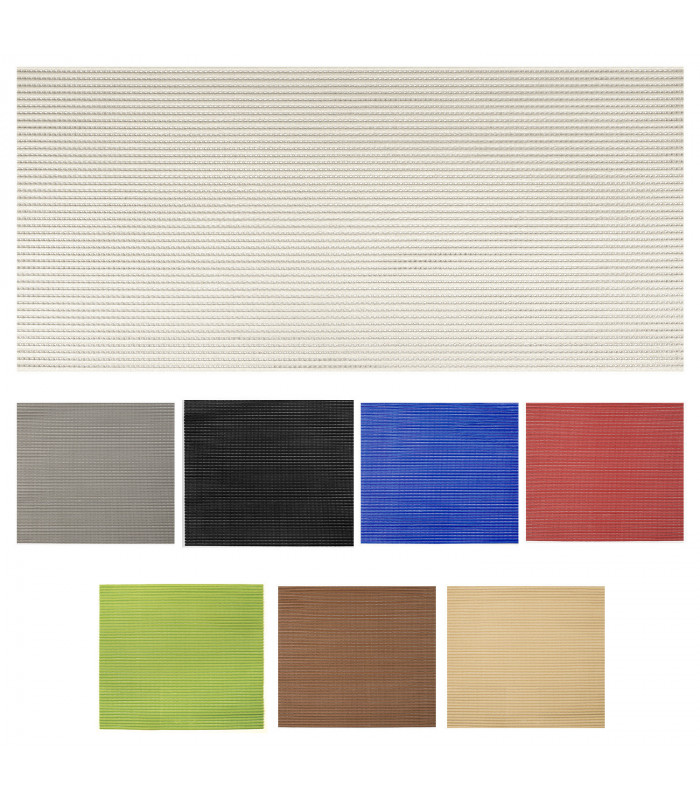 Multi-purpose, non-slip and breathable rubbery mat. Assorted sizes and colors