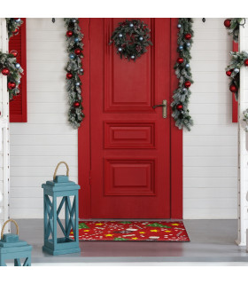Mat Christmas - Mix decorations, Christmas themed welcome mat in coconut ambient